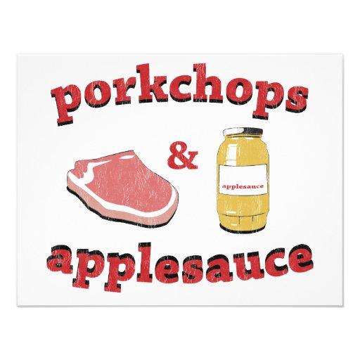 porkchops & applesauce personalized invitation