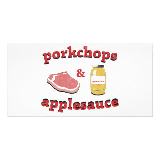 porkchops applesauce photo greeting card