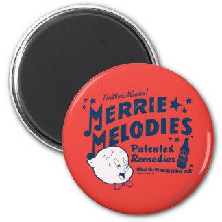 Porky MERRIE MELODIES™ Remedies 2 6 Cm Round Magnet