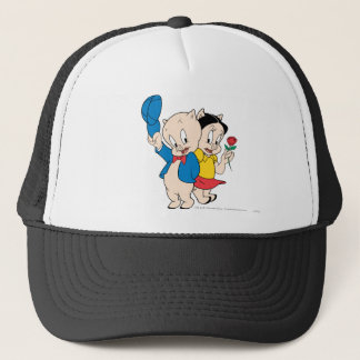 Porky Pig and Petunia Trucker Hat
