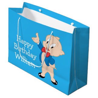 Porky Pig | Classic Pose Large Gift Bag
