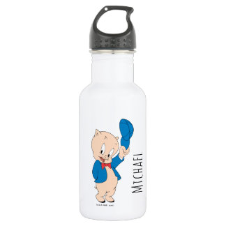 Porky Pig | Waving Hat 532 Ml Water Bottle