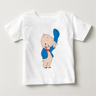 Porky Pig | Waving Hat Baby T-Shirt