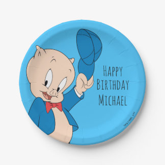 Porky Pig | Waving Hat Paper Plate