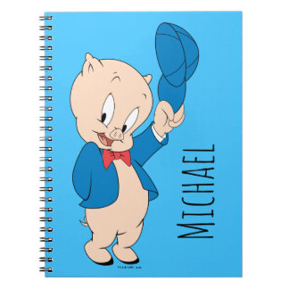 Porky Pig | Waving Hat Spiral Notebook