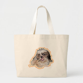 poronchi puppy flute tote bags