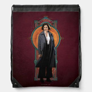 Porpentina Goldstein Art Deco Panel Drawstring Bag