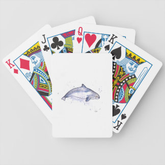 Porpoise Illustration Bicycle Playing Cards