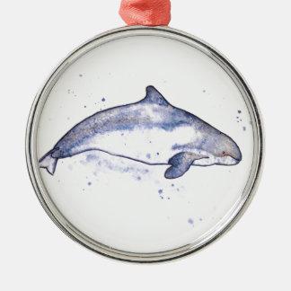 Porpoise Illustration Christmas Ornament