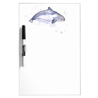 Porpoise Illustration Dry Erase Board