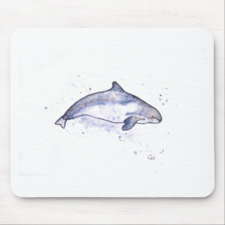 Porpoise Illustration Mouse Pad