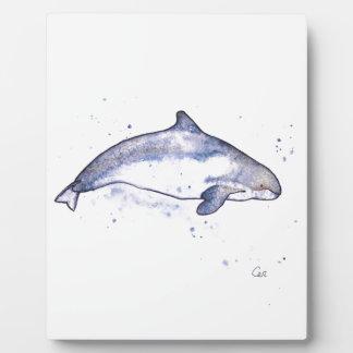Porpoise Illustration Plaque