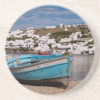 Port and harbor area with Greek fishing boats Coaster