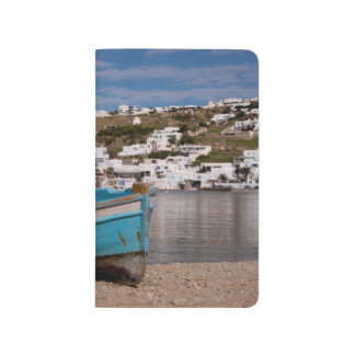 Port and harbor area with Greek fishing boats Journal