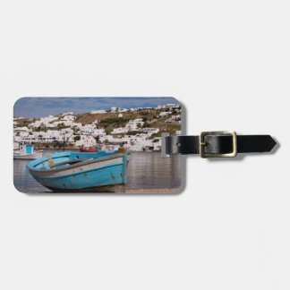 Port and harbor area with Greek fishing boats Luggage Tag