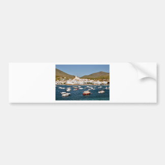 Port and town of Cadaqués in Spain Bumper Stickers