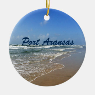 Port Aransas Beach in Texas Christmas Ornament