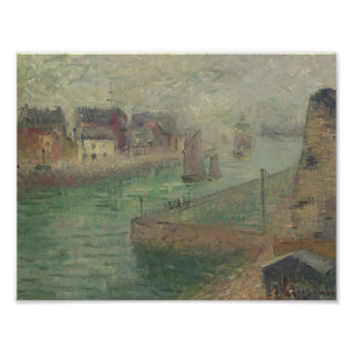 Port at Dieppe in Fog by Gustave Loiseau Print