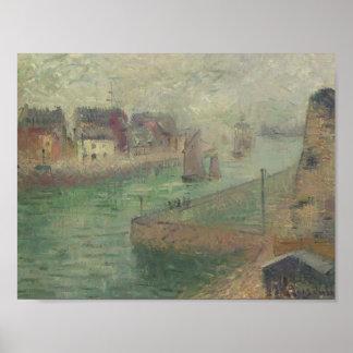 Port at Dieppe in Fog by Gustave Loiseau Print