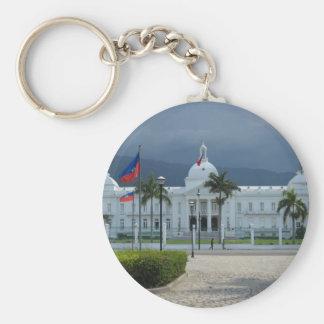 Port au Prince, Haiti Basic Round Button Key Ring