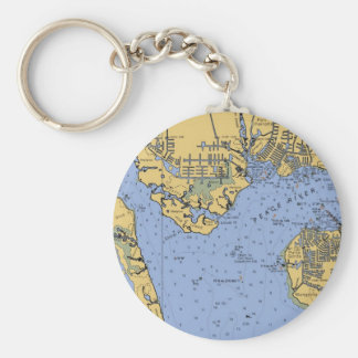 Port Charlotte, Florida Nautical Chart Keychain
