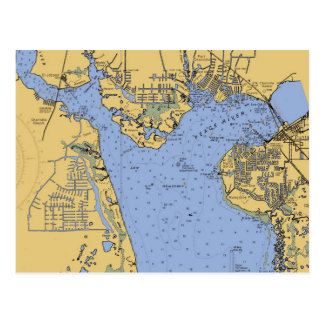 Port Charlotte, Florida Nautical Chart Postcard