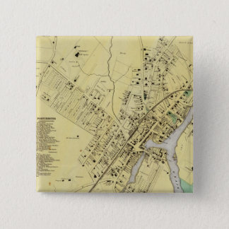 Port Chester, NY 15 Cm Square Badge