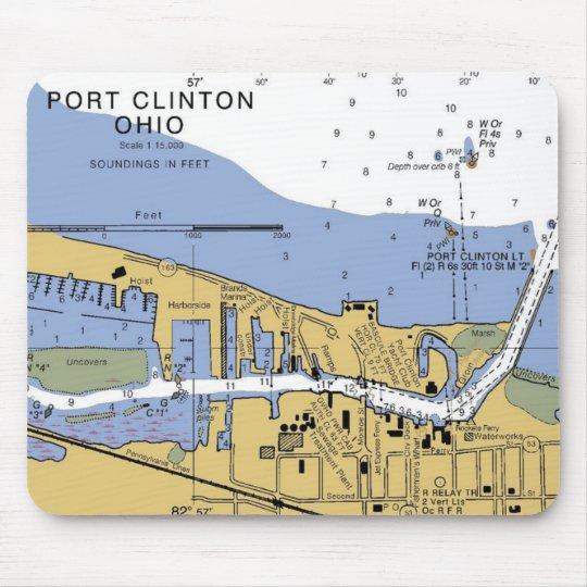 Port Clinton, OH  Erie Nautical Chart Mousepad