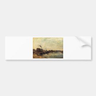 Port de Grenelle by Paul Gauguin Bumper Sticker
