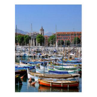 Port de Nice in France Postcard