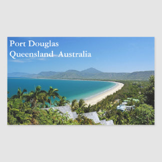 Port Douglas Rectangular Sticker