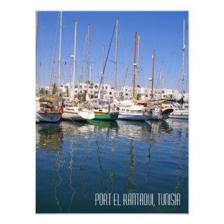 Port el Kantaoui Harbour Harbour Boats Tunisia Photo Print