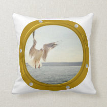 Port Hole View Polyester Cushion