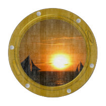 Port Hole View Template Circular Chopping Board