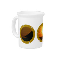 Port Hole View Template Drinks Pitcher