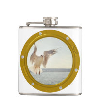 Port Hole View Template Hip Flask