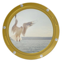 Port Hole View Template Melamine Plates