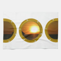Port Hole View Template Tea Towels