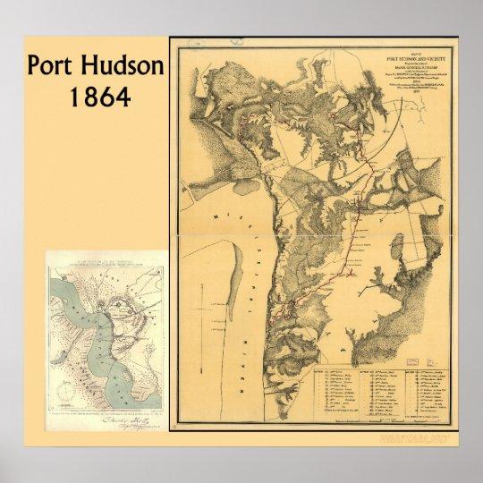 Port Hudson Maps Poster