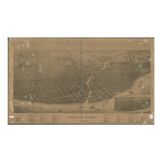 Port Huron Michigan 1894 Antique Panoramic Map Poster