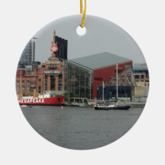 Port in Baltimore Christmas Ornament