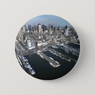 Port in New York City 6 Cm Round Badge