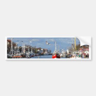 Port in Warnemuende (Germany) Bumper Sticker