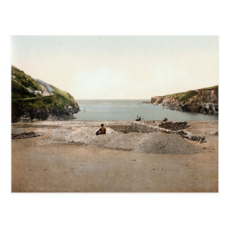 Port Isaac, Port Gavern, Cornwall, England c.1895 Postcard