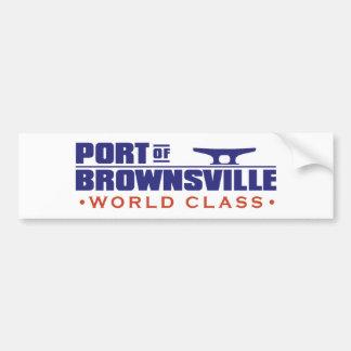 Port-Logo-English Bumper Sticker