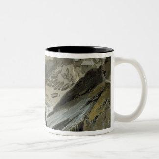 Port Looe, Cornwall, from 'A Voyage Around Great B Two-Tone Coffee Mug