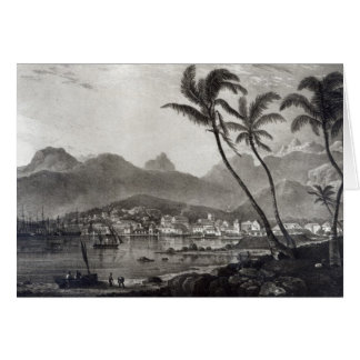 Port Louis 'Views in the Mauritius' by Greeting Card