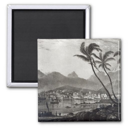 Port Louis 'Views in the Mauritius' by Refrigerator Magnet