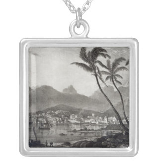 Port Louis 'Views in the Mauritius' by Silver Plated Necklace