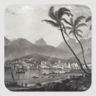 Port Louis 'Views in the Mauritius' by Square Sticker